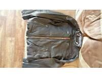 Mens superdry leather biker jacket flight bomber l xl xxl