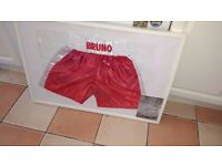 Signed boxing shorts by Frank Bruno