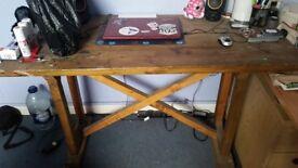 Workshop table. Heavy, sterady wood.