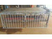 Galvanized Double gates