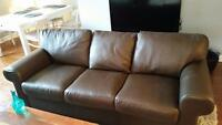 Clean Leather Couch - MUST GO BY SAT Nov 28
