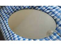 Oval mirror approx 2'