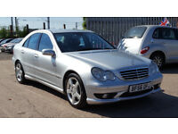 2006 Mercedes C Class C200 CDI Avantgarde Saloon + AMG SPORT PACK + FULL LEATHER SEATS + HPI CLEAR