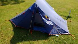 2msn vango tent, light weight with 1 flysheet and