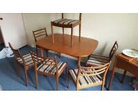 G-Plan Extendable Table with 6 Chairs in Great Condition