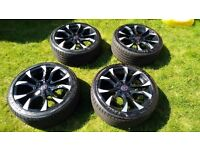"""Set of 18"""" Wolfrace Assassin Black/Polished Alloy Wheels with Goodyear Eagle F1 Asymmetric 2 tyres"""
