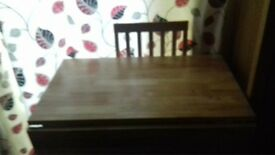 brand new kendal dropleaf table with 1 chair needs assembly