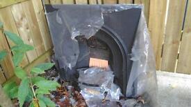 Cast iron fire insert 97x97cm