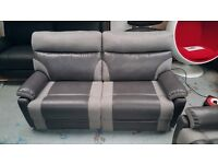 Ex-Display ScS Ralph Grey 3 Seater Electric Recliner Sofa with USB Ports **CAN DELIVER** 2 Available