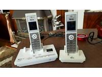Cordless phone with answer machine white