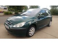 PEUGEOT 307 LX HDI/1.4 DIESEL//8 MONTHS MOT//STAMPED SERVICE HISTORY//CAM BELT CHANGED £1500