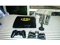 Ps3 console with controller accessories and 13 games