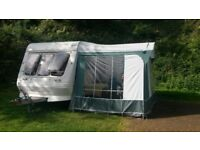 Fleetwood Garland 2 berth caravan with large awning and accessories
