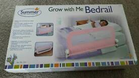 Toddler bed bedrail - pink Summer Grow with Me