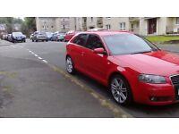 Audi A3 S Line,TDI AUTO DSG 04 PLATE,RED BLACK HALF LEATHERS 18 ALLOYS N GREAT TYRES