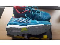 Women's adidas blue running shoes