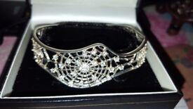 925 Cobweb cuff bangle