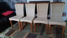 4 Dining chairs in excellent condition.