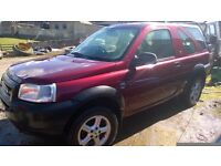 land rover freelander breaking
