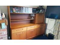 Retro Teak Sideboard and Drinks Cabinet with Cutlery Draw