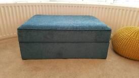 Extra large custom made storage footstool