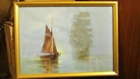 montaque dawson print/framed