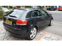 Audi A3 3.2 Sport Quattro S-Line 3dr Black very low mileage