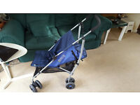 Mamas & Papas Swirl Pushchair Navy Blue Very Good Condition