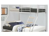 Double bottom single top bunk beds