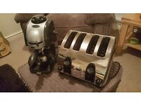 Kenwood toaster and coffee machine