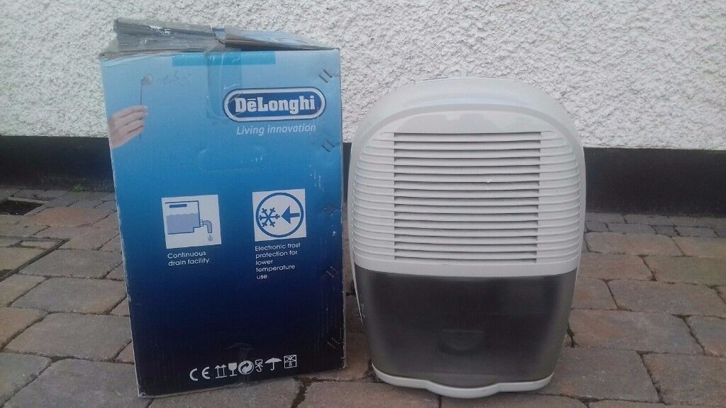 Dehumidifier--- DeLonghi Model DEM 10, efficient, quiet, portable. Little used, good working order.