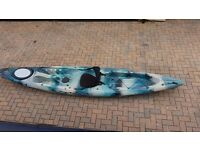 13 ft kayak triumph perception with seat and paddle
