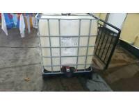 1000 litre water diesel cube
