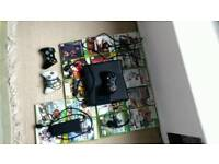 Xbox 360 17games 3 controllers