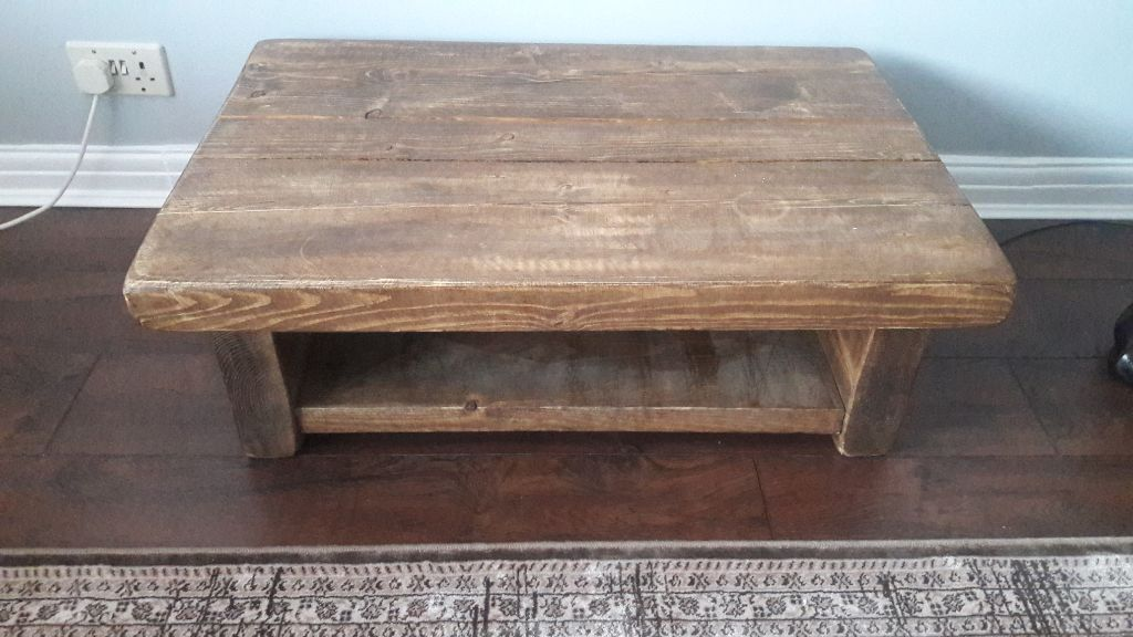 Rustic solid reclaimed wood oak coffee table 100ono in for Coffee tables gumtree london