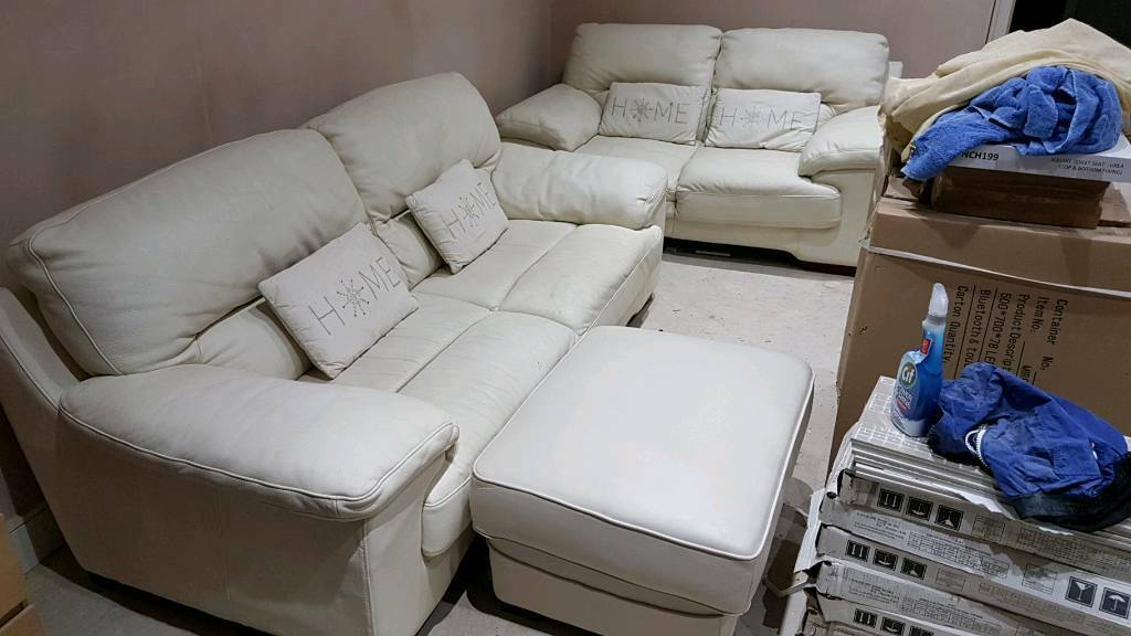 Magnificent 100 Italian Leather Sofa Set 3 Seater 2 Seater Foot Stool In Bury Manchester Gumtree Ibusinesslaw Wood Chair Design Ideas Ibusinesslaworg
