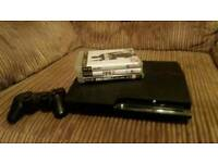 Playstation 3, controller & 3 games