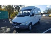 2005 MERCEDES SPRINER MINIBUS 311 CDI M.W.B HIGH ROOF 12 SEATER NO VAT