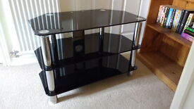 TV stand - complete black glass TV stand for sale
