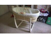 Mamas & Papas Moses Basket and Rocking Stand (plus mattress and sheets if wanted)