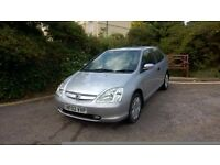 VERY LOW MILEAGE HONDA CIVIC AUTOMATIC, 37K MILES, NEW MOT, JUST SERVICED