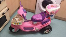 Girls Pink Battery powered Bike