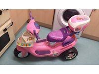 Girls Pink Battery powered Bike