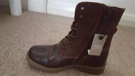 Girls brown ankke boots size 10