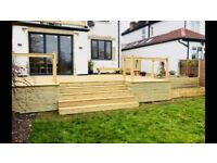Complete Garden Renovation, Driveway, Patio, Fencing, Turfing, Decking