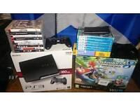 Nintendo Wii U and ps3 bundle