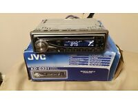 CAR HEAD UNIT JVC CD MP3 PLAYER WITH RCA PRE OUT 4 x 50 WATT STEREO AMPLIFIER AMP