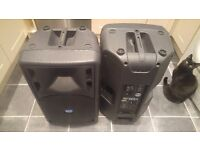 Pair of RCF Art 322-A active PA speakers / monitors
