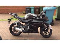 Yamaha YZF R125 14plate motorbike 5000 miles
