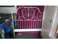 Ivory Metal bed frame (Queen size)